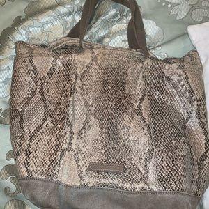 BCBG Max Azria snake skin bucket bag